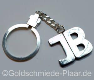 Schlüsselring mit Initialen aus Silber