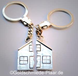 Partner-Schlüsselring aus Silber