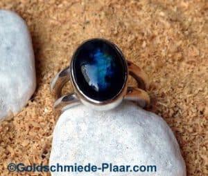 Silber Ring Labradorit