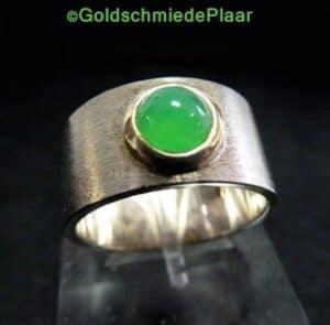 Silberring mit Chrysopras