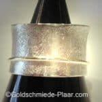 Rollring Silber mit Gold