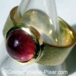 Ring Gold mit rosa Turmalin rund cabochon