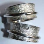 Schwärzen von Silber -Ringe in Weiß