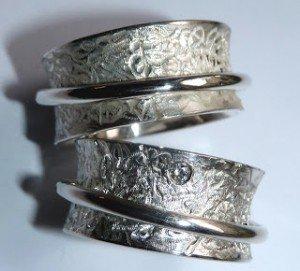 Schwärzen von Silber - Ringe in Weiß