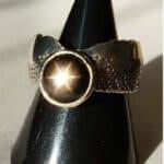 Asterismus, Silber-Ring mit Sternsaphir
