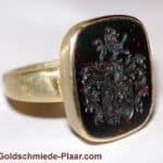 Siegelring Heliotrop Gold