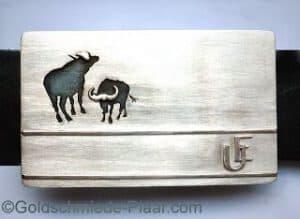 Gürtelschnalle für Afrika, Wasserbüffel