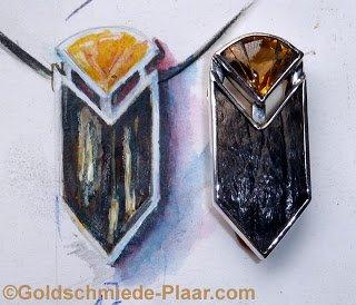 Anhänger Silber mit Citrin und Kokosnuss