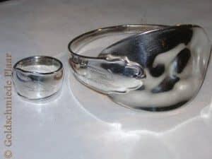 Ring und Armspange aus Besteck