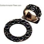 Ring und Scheibe in Silber passend zu Deja-vu Uhr