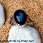 Silber Ring mit Labradorit