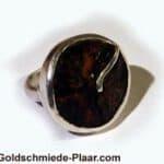 Ring Silber mit Kokosnuss