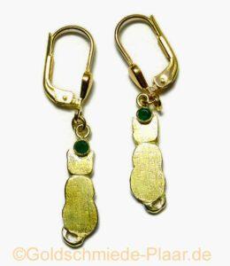 Katzen-Ohrhänger in Gold