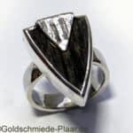 Silber-Ring mit Ebenholz