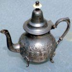 Anlaufen von Silber,marokkanische Teekanne