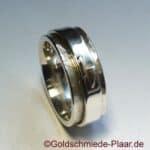 Roll-Ring mit Symbol, Silber