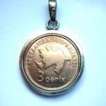 Münze als Kettenanhänger