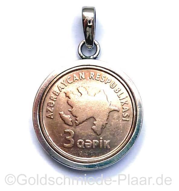 Münze Als Kettenanhänger In Handarbeit Hergestellt