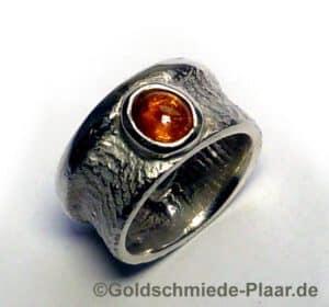 Silber-Ring mit Spessartinat