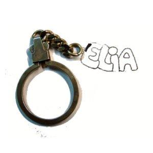 Schlüsselanhänger mit Vornamen, Silber