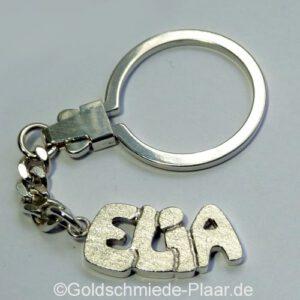 Schlüsselanhänger mit Vornamen aus Silber