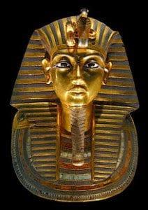 Totenmaske des Tutanchamun mit Lapislazuli