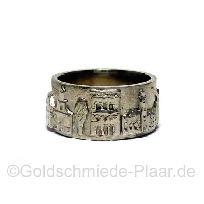 Stadtring Saarbrücken Handarbeit in Sterling Silber