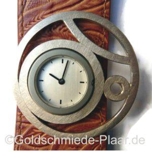 asymmetrische Zierscheibe für Deja Vu Uhr, Silber