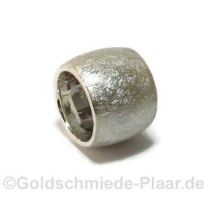 sehr breiter Ring Silber eismatt