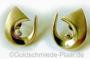 Brillant-Ohrstecker Gelbgold 585