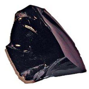 Spaltbarkeit und Bruch der Edlsteine, Bruchstelle beim Obsidian