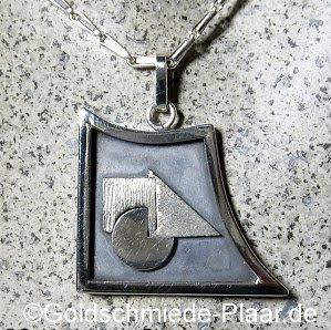 Kettenanhänger Silber Bauhaus- Stil