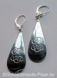 Ohrschmuck aus Silberbesteck