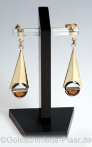 Ohrhänger aus Gold mit Citrin