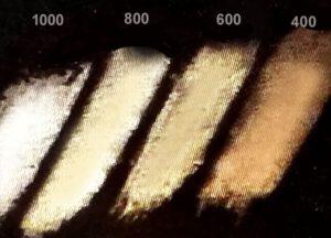 unterschiedliche Strichfarben von Silber